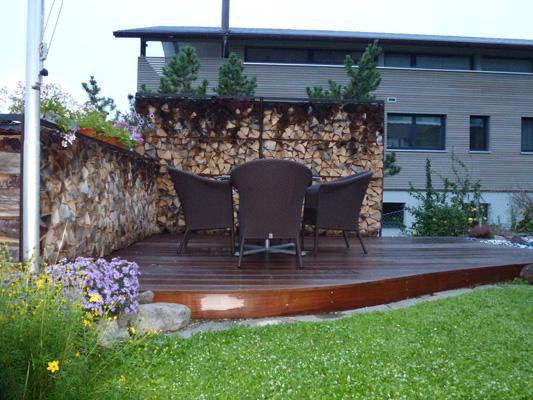 Wohnzimmer und Kamin gartenhäuser container : Wind- und Sichtschutz - individuelle Massanfertigung aus ...