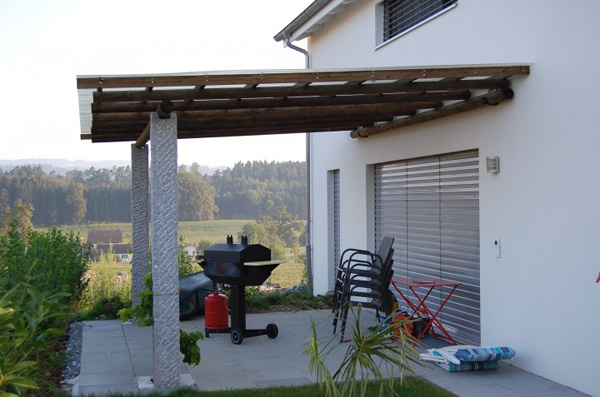 Pergolas als Gartensitzplatzüberdachung