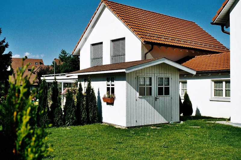 gartenhaus als Anbau