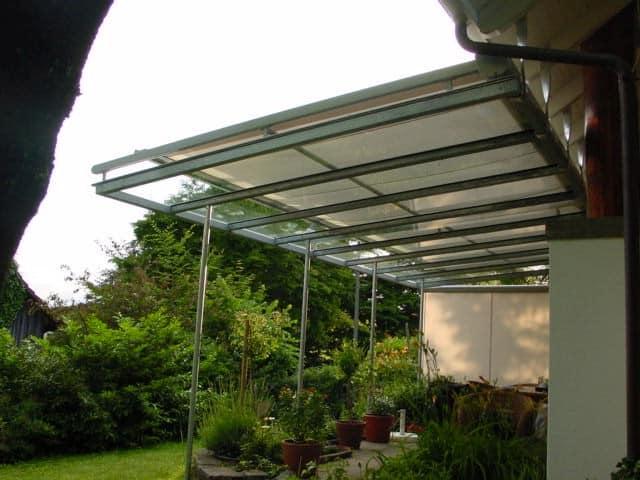 Glasvordach Sonneschutz