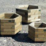 Holz-Pflanzentrog und Blumenkiste Sechseckig für Hochbeet
