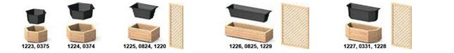 Pflanztrog für Hochbeet aus Holz